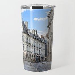 Old town street of Rennes Travel Mug