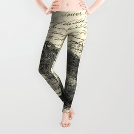 rustic cabin  woodland animal mountain forest grizzly bear Leggings