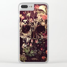 Bloom Skull Clear iPhone Case
