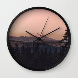 Mountain Morning IV Wall Clock