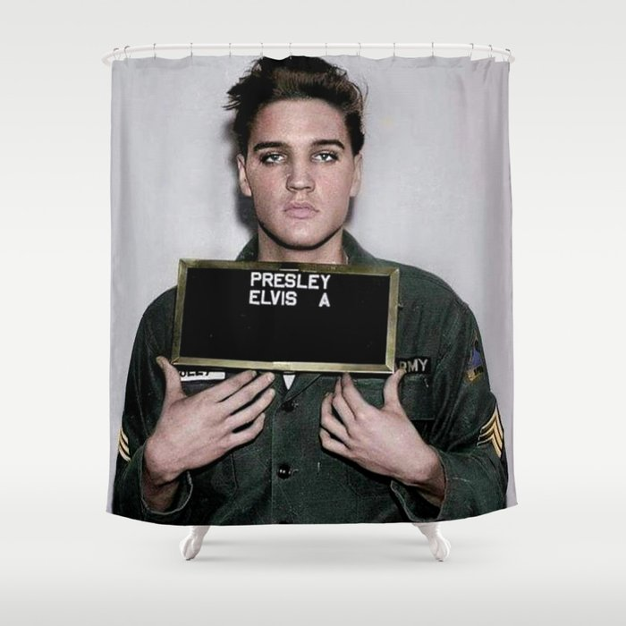 Army Elvis Shower Curtain