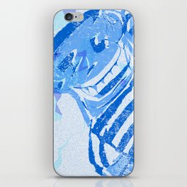 Blue victory iPhone Skin