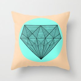Crystaline in circle Throw Pillow