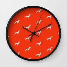DALMATIANS ((cherry red)) Wall Clock