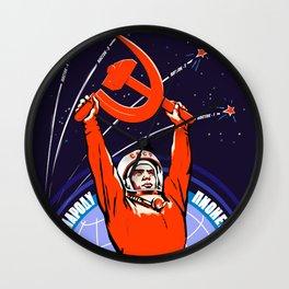 Soviet Propaganda. Yuri Gagarin Wall Clock