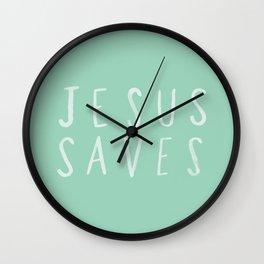 Jesus Saves x Mint Wall Clock