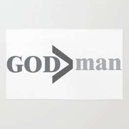 God is greater than man Rug