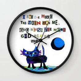 I see the moon nursery rhyme Wall Clock