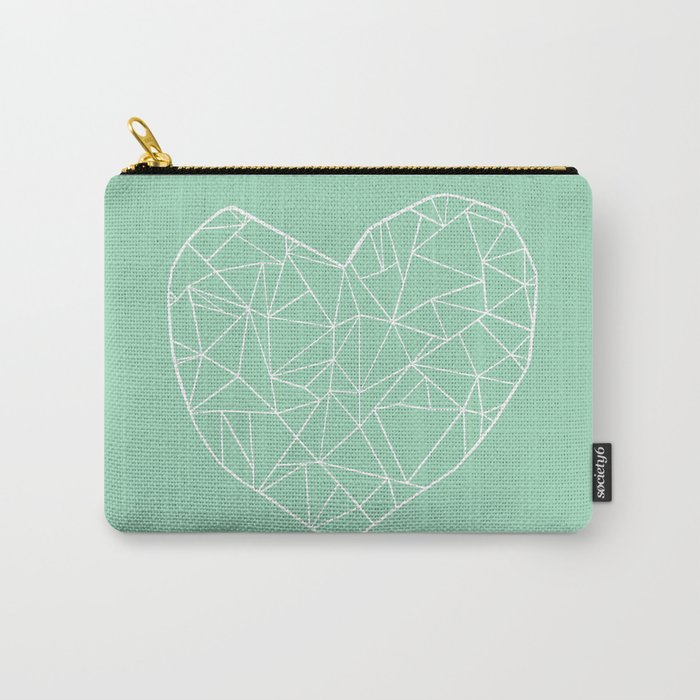 Abstract Heart Mint Carry-All Pouch