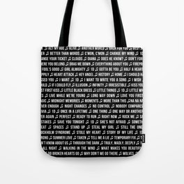 One Direction Songs Tote Bag