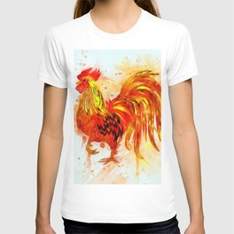 Rooster Painting T-shirt