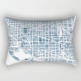 Washington DC Blueprint watercolor map Rectangular Pillow