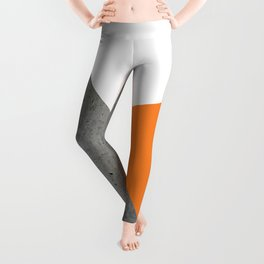 Concrete Tangerine White Leggings