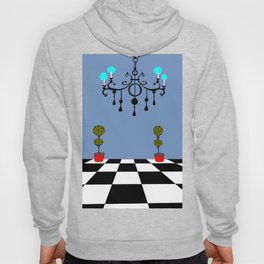 A Chandler with Checkered Tile and Topiaries Hoody