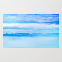 Heavenly Mountains In A Sea Of Clouds Rug