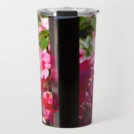 Flowers and Wrought Iron Travel Mug