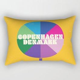 Copenhagen, Denmark vintage travel poster Rectangular Pillow