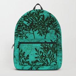 Botanical Turquoise Backpack