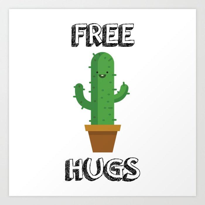 Free Hugs for All! Art Print