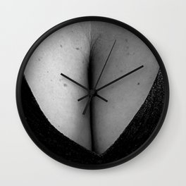 Curves in Black and White Wall Clock