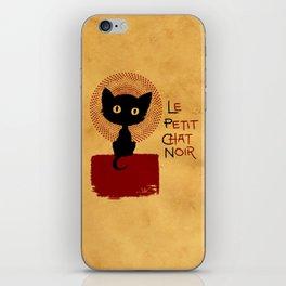 Le Petit Chat Noir iPhone Skin