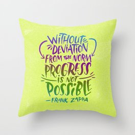 Frank Zappa on Progress Throw Pillow