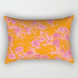 Floral trio tone photograph with orange and pinks Rectangular Pillow