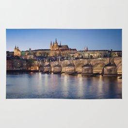 Prague Castle and Charles Bridge Rug