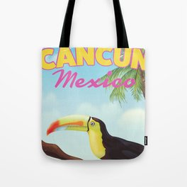 Cancun Mexico Tropical vintage travel poster Tote Bag