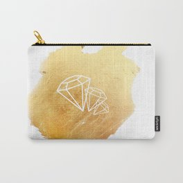 Faceted Gold Carry-All Pouch