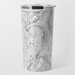 Vintage Map of Boston (1878) Travel Mug