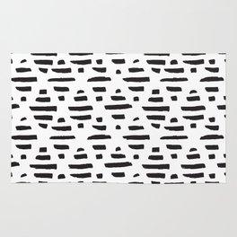 Hand drawn pattern black and white Rug
