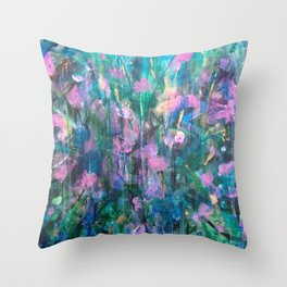 """""""FAIRY DREAMS"""" Original Painting by Cyd Rust Throw Pillow"""