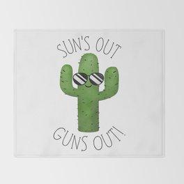 Sun's Out Guns Out! Throw Blanket