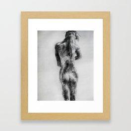 charcoal figure Framed Art Print