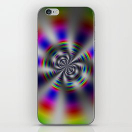 Fractal Rainbow Wheel iPhone Skin