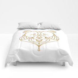 Gold Bear Two Comforters