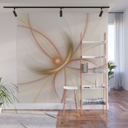 Nobly In Gold And Copper, Fractal Art Wall Mural