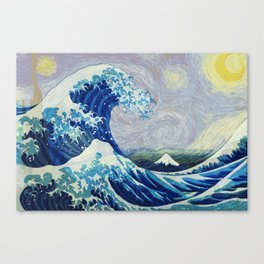 The Starry Night Wave Canvas Print