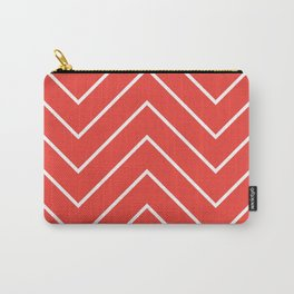 Yacht style design. Red chevron. Carry-All Pouch