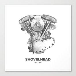 Vintage Harley Shovelhead Motorcycle Engine Canvas Print