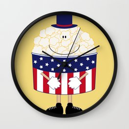 Mr.Popcorn Wall Clock