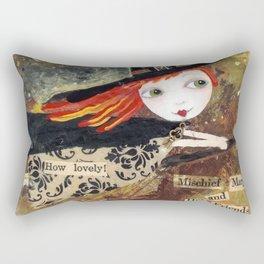Mischief - Halloween Witch Rectangular Pillow