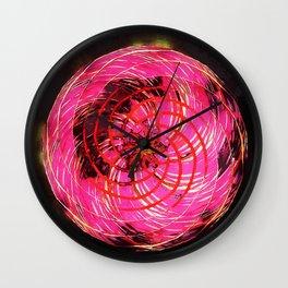 rotation - mandala colorful Wall Clock