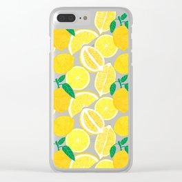 Lemon Harvest Clear iPhone Case