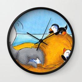 Sandy Snow House Wall Clock