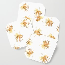 Golden Palm Leaf Coaster