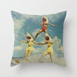 On Evil Beach Throw Pillow
