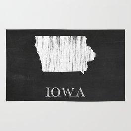 Iowa State Map Chalk Drawing Rug