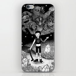 Witchy Skateboarder iPhone Skin
